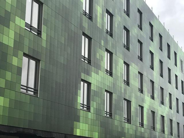 fachada ventilada con tecnología Umetalcoat